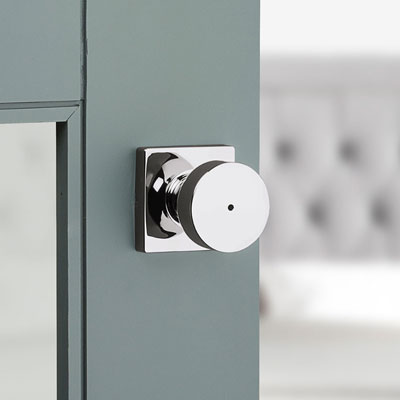 chrome privacy door knob